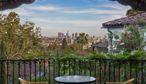 The home features expansive views of Downtown Los Angeles and Griffith Park. Photo courtesy Realtor.com.