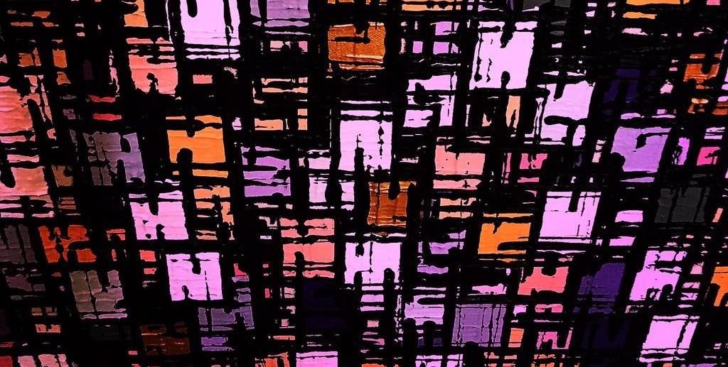 """""""Purple Haze"""", a squarist painting by Jocelyn Josef. Via Twitter @artbyjj4"""