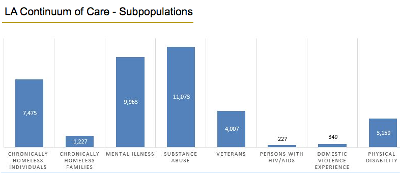 Subpopulations of Homeless Individuals. Photo Courtesy lahsa.org