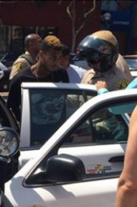 One of the three men that was reportedly shouting anti-gay slurs inside the Starbucks at West Hollywood. (via Facebook)