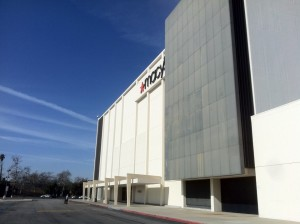 A photo of the previously-occupied Macy's at Laurel Plaza.