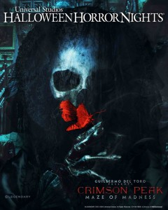 The poster advertising for the Crimson Peak maze part of Hollywood Horror Nights at Universal Studios.