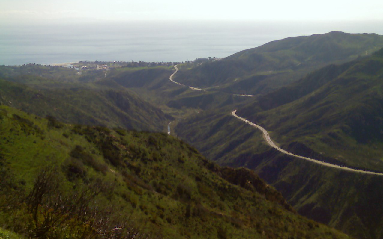 Malibu Canyon from atop Piuma Road. Photo via Marc Choquette on Flickr.