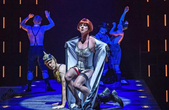 Jake Shears, lead singer of the band Scissor Sisters, sings and acts in the supporting role of Greta, the club owner.