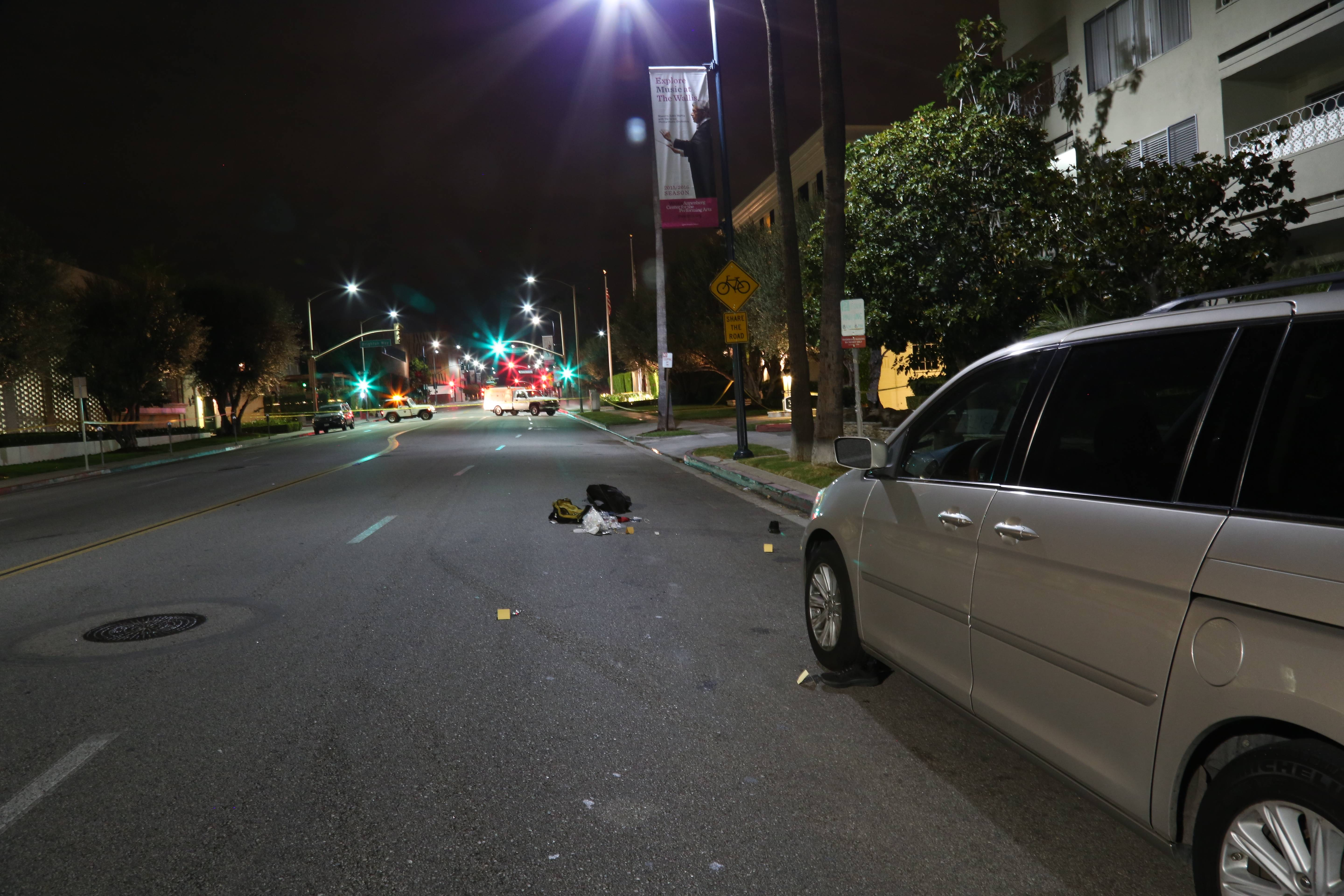 Another angle of the aftermath of a deadly hit-and-run near Crescent Drive.