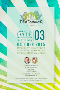The promotional flyer for DEAFestival LA 2015.