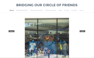 Seifers website, Bridging our Circle of Friends, aims to raise awareness of disabilities.
