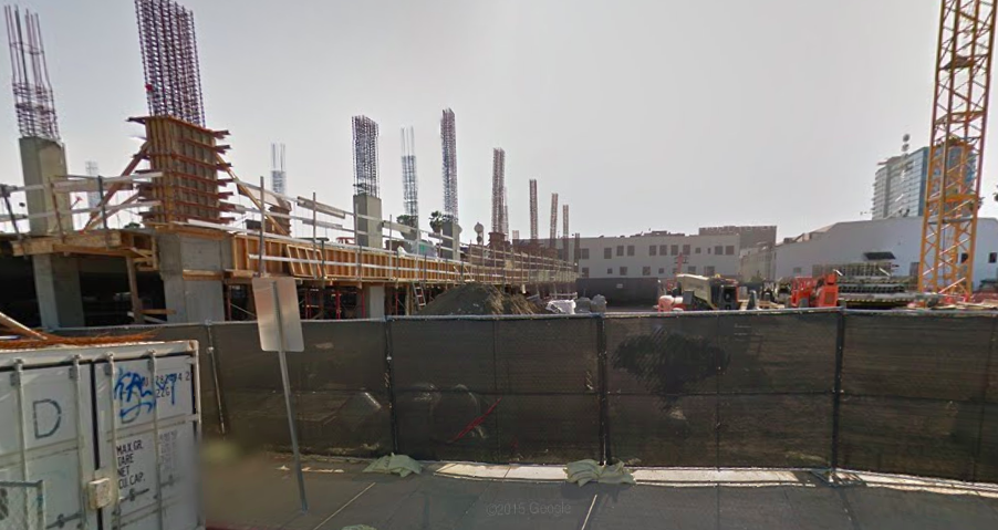 The area where Netflix's future building is located is currently undergoing construction that is set to be completed in 2016.