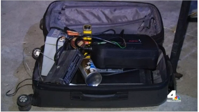 The contents of the suitcase. Photo by NBC4