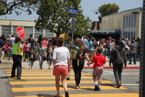 Traffice Officers and Crossing Guards ensuring safety at Santa Monica schools