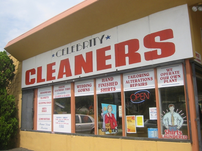 Celebrity Cleaners, owned by Gohar Afifi, who requested to tear down the houses.