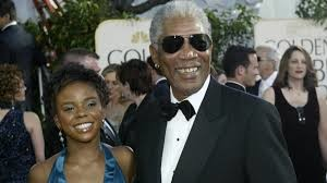 Hines is seen here accompanying Freeman to the 2005 Golden Globe Awards in Beverly Hills.