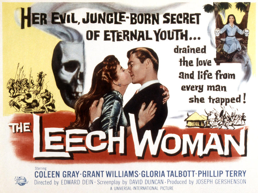 "Coleen Gray starred in B-movie ""The Leech Woman"" in 1960"