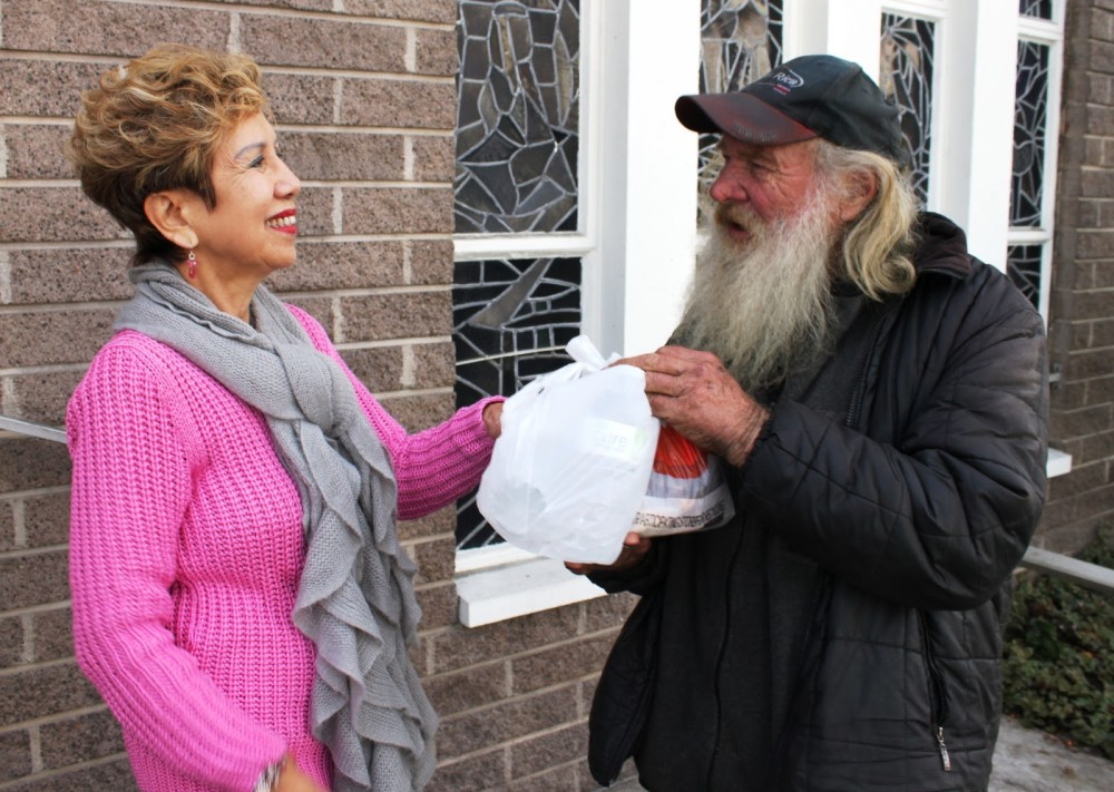 Claire Padama and Ed Denst. Photo via Society of St. Vincent's blog.