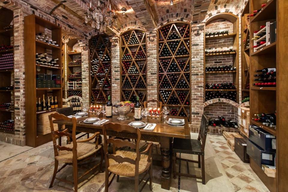 A wine cellar at Palazzo Di Amore