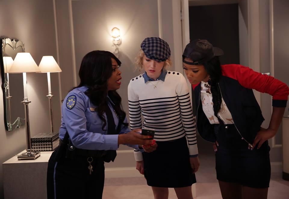 Denise (Niecy Nash), Grace (Skyler Samuels) and Zayday (Keke Palmer) speculate.