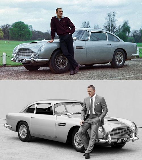 James Bond Then & Now