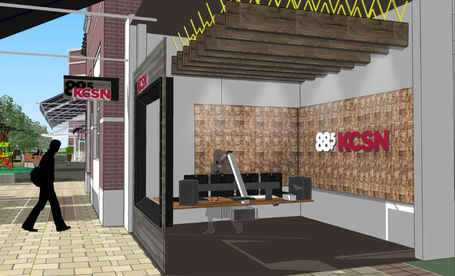 Rendering of the KCSN studio at The Village.