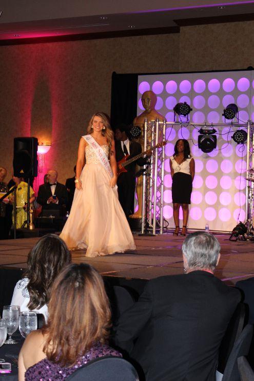 Rudkin being crowned the first deaf Miss San Antonio.