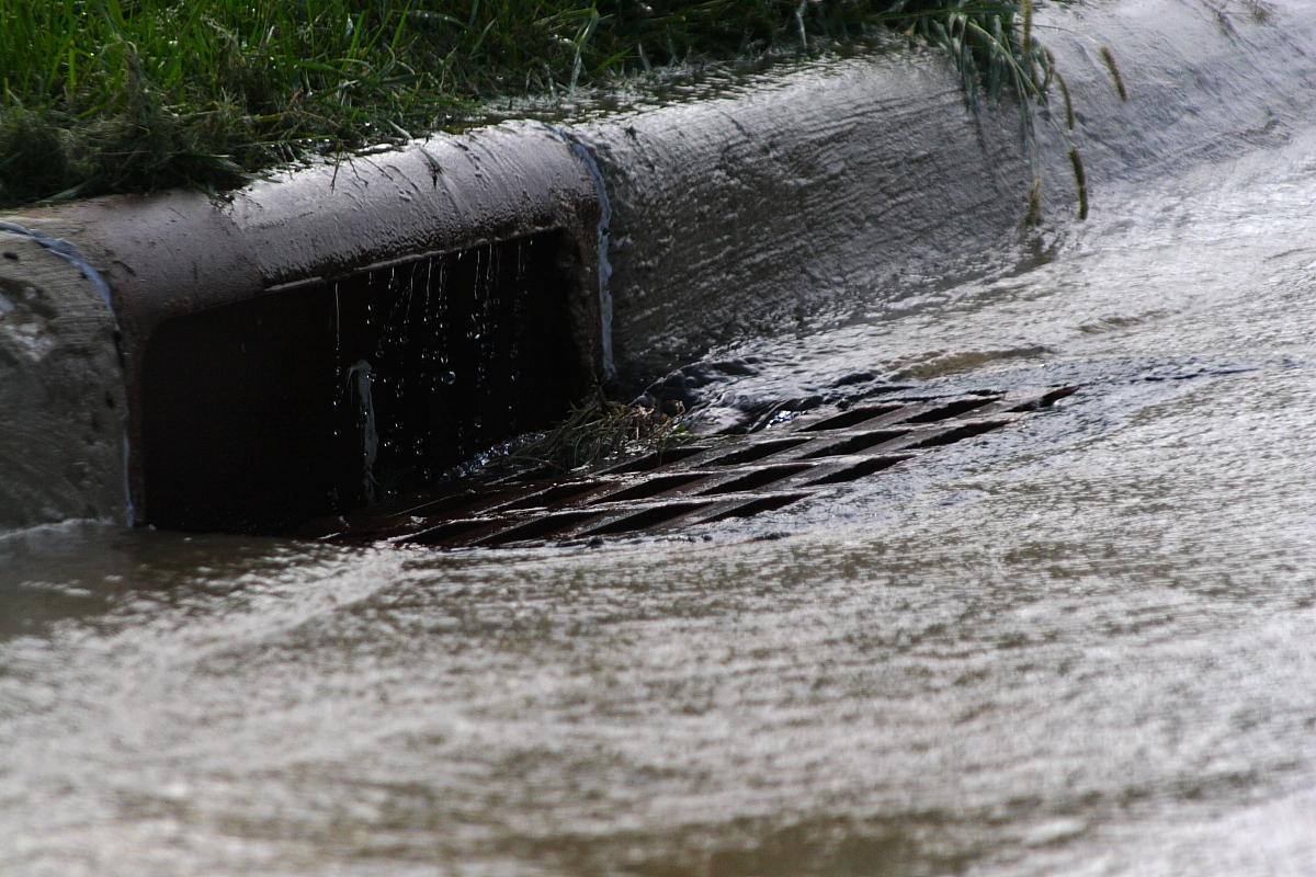 A storm drain.