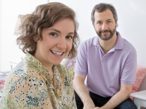 GIRLS creator Lena Dunham (left) and producer Judd Apatow (right).