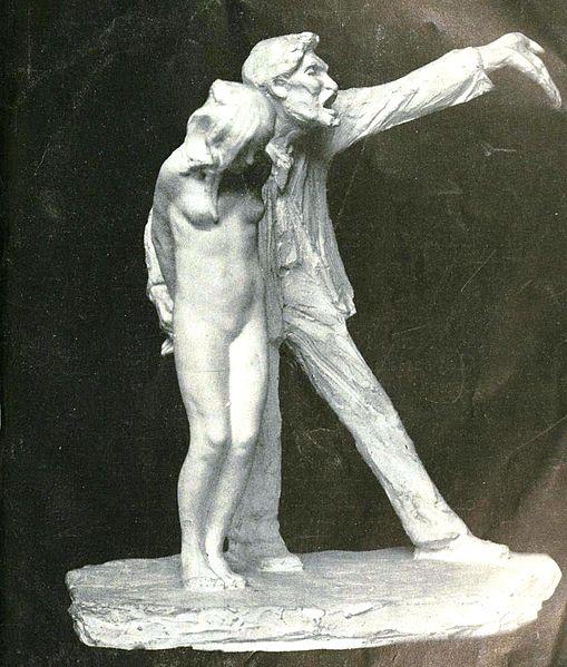 The_White_Slave_statue