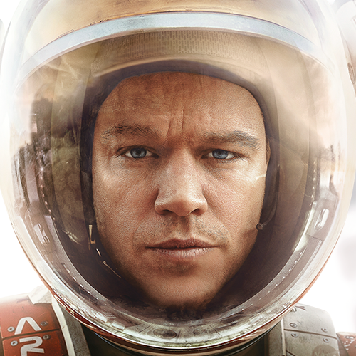 "Matt Damon won the prize for Best Actor in a Comedy or Musical for ""The Martian."""