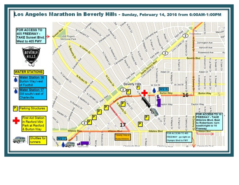LA Marathon route through Beverly Hills