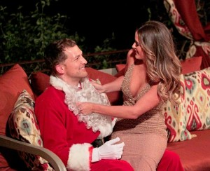 Nick B. makes a memorable first impression on JoJo dressed as Santa Claus.