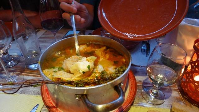 Portuguese fish soup.