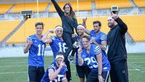 "The winning ""blue team."""