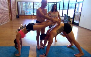 """The """"Bachelorette,"""" JoJo Fletcher, takes Chase McNary on a one-on-one date for some hot yoga."""