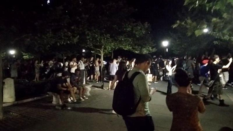 Mob of Pokémon Go players in NYC's Central Park.