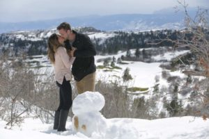 Chase and JoJo build a snowman during hometowns.