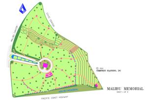 Malibu Memorial map.