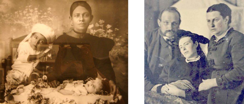 Post-mortem family portraits courtesy of Wikimedia Commons
