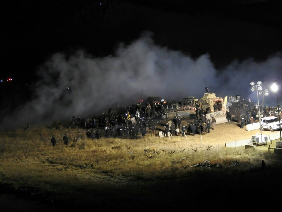 The Morton County Sheriff's Department released a photo of the protest site along with a statement.