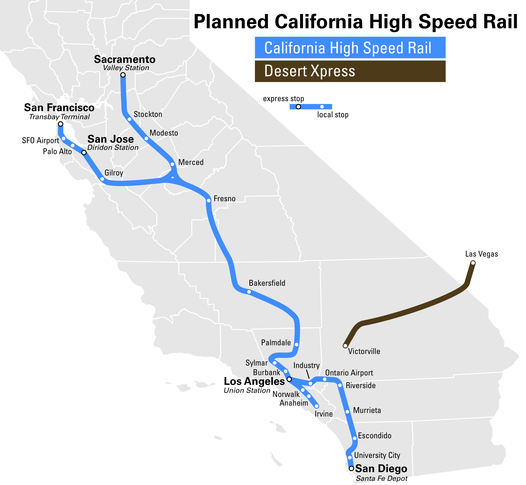 trains in california map High Speed Rail To Las Vegas Breaks Ground 2017 Canyon News