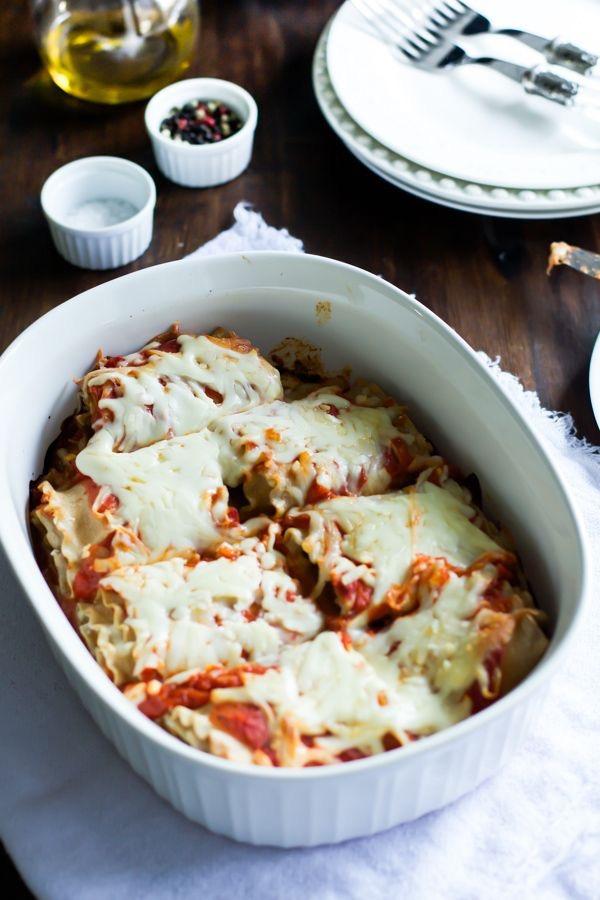 Skinny Lasagna Rolls from Primavera Kitchen