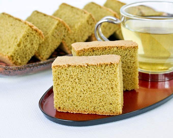 Matcha Green Tea Castella (Kasutera), from Roti n Rice.