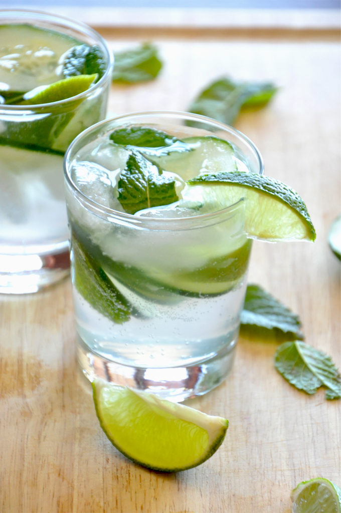 Cucumber Cooler Cocktails, from Minimalist Baker