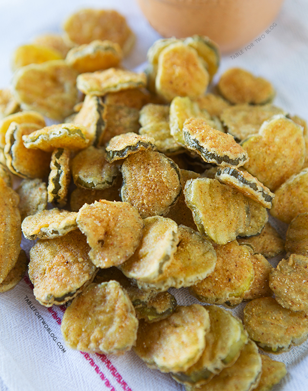 Fried Pickles, from Table for Two