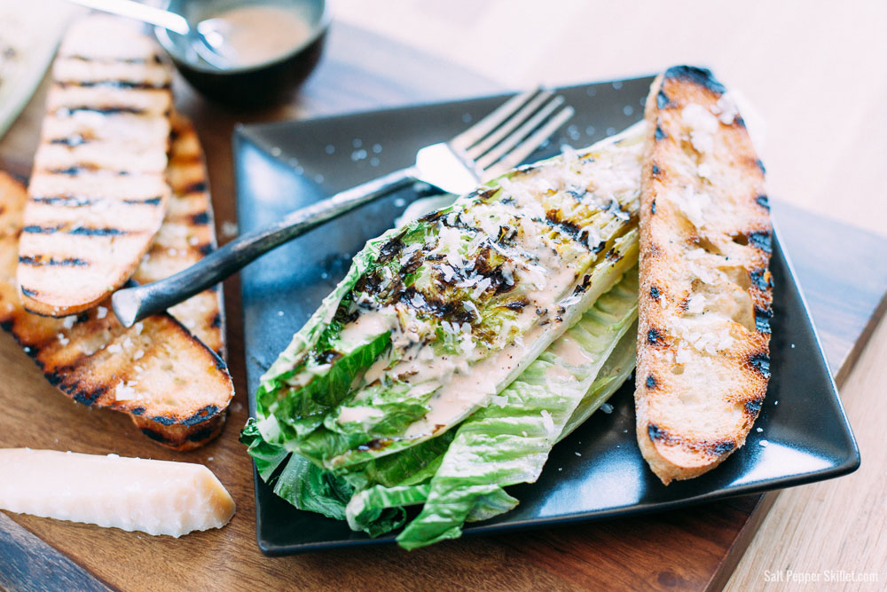 Grilled Caesar Salad, from Salt Pepper Skillet