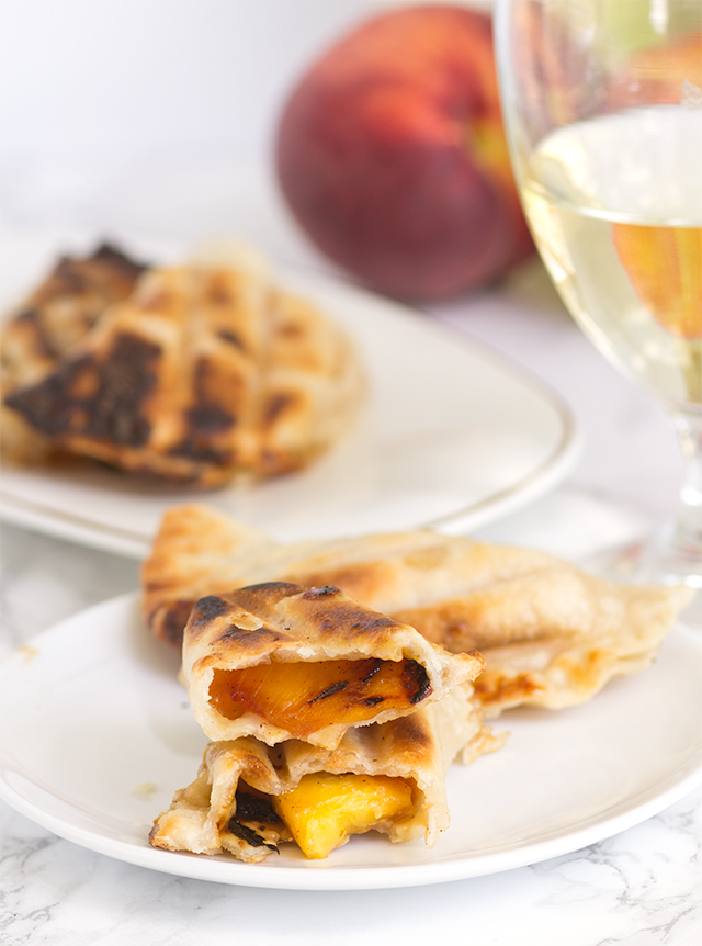 Grilled Peach Pies, from Cookie Dough and Oven Mitt