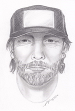 Sketch of suspect police are searching for. Photo courtesy of the LAPD.