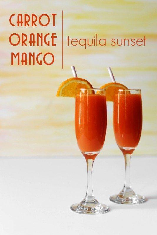 Carrot Orange Mango Tequila Sunset, from Joy The Baker